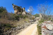 Randonnée depuis le château de Peyrelade