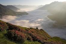 Coucher de soleil sur la vallée de Barèges