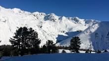 Pic du Midi sous la neige depuis la station de Barèges