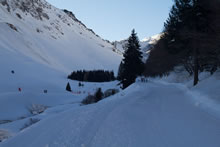 Randonnée en raquettes à neige depuis Tournaboup