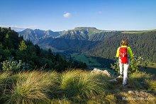 Vue sur les sommets du massif du Sancy