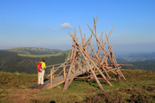 Sculpture de bois en vallée de Chaudefour