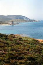 Beau paysage sur le sentier des douaniers en Corse