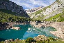 Lac des Gloriettes et cirque d'Estaubé