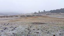 Hier : village d'Aubrac sous quelques flocons