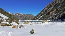 Le lac de Gaube début janvier