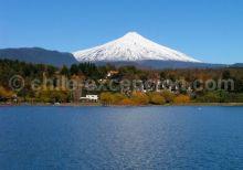 Vue sur le Volcan Villarrica au Chili