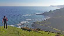 Au petit matin sur la côte basque espagnole