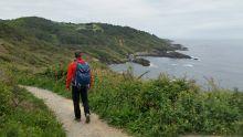 Juste après le phare de Hondarribia on commence à longer la côte