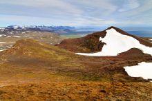 Cratère que l'on voit depuis le sommet