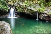 Trace du Bassin Paradis sur Basse-Terre