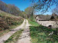 Sur la piste près de la grange