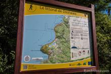 Le littoral de Deshaies : panneau du départ