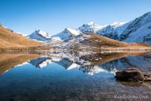 Reflet dans le lac du Clou