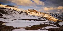 Le panorama du refuge et de ses deux lacs