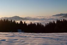 Ski de fond au col des Saisies - Massif du Mont Blanc