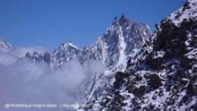 Aiguille du Midi lors de l'ascension du Mont-Blanc