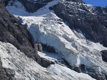 La chute de séracs de l'Eigergletscher
