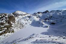Randonnée en raquettes à neige au lac de la Glère