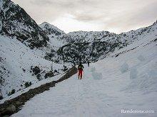 Randonnée à skis au lac de la Glère