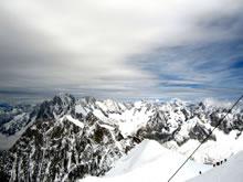 Alpes: vue depuis l'aiguille du midi