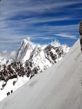 L'Aiguille du Midi: mont�e en t�l�ph�rique