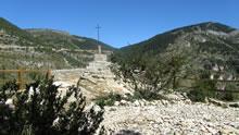 Lors de la montée à l'Ermitage de Sainte Enimie