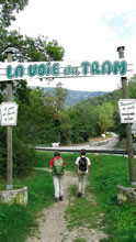 Départ de la randonnée de La Voie du Tram