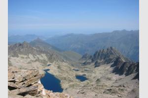 Lacs d'Ardiden depuis le sommet