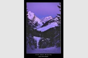 Le Mt Blanc vu depuis Beauregard