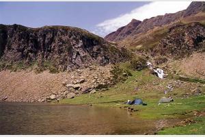 Lac lors de la randonnée autour du pic du Midi d'Ossau