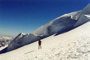 Paysage de neige au Mont Blanc