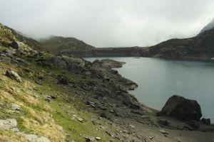 Lac des Gloriettes avec son barrage
