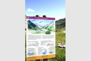 Départ de la randonnée au lac de l'Eychauda