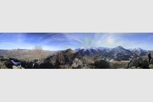 Panoramique au Pic de Pan