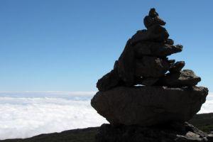 Cairn à la Réunion