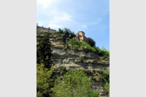 Vu du trou de Bozouls depuis le bas du village
