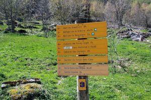 Panneau indicateur de notre randonnée