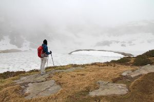 Test de bâtons de randonnée au lac Pormenaz