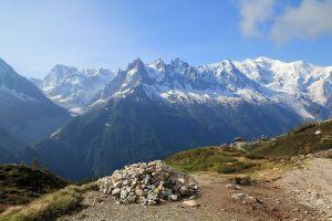 Point de vue sur le massif du Mont Blanc