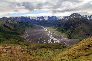 Randonnée à la montagne panoramique du Valahnúkur