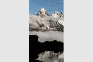 Aiguille du Chardonnet depuis le lac Blanc