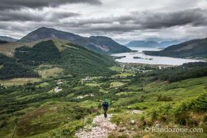 Sentier vers le PAP of Glencoe