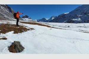 Petite pause au col de la Vanoise