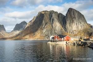 Maisons typiques dans les Lofoten en Norvège