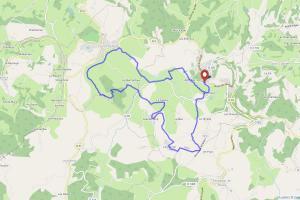 Carte de la randonnée entre Ayen et St Robert