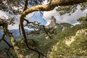 Mont Aiguille depuis les environs du col de Papavet