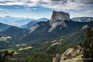 Mont Aiguille après une rude montée