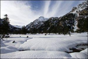 Randonnée en raquettes à neige au refuge Wallon - Marcadau