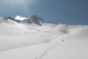 Tour du pic du Midi d'Ossau sur neige